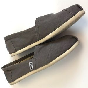 Toms   gray espadrilles flats canvas loafers